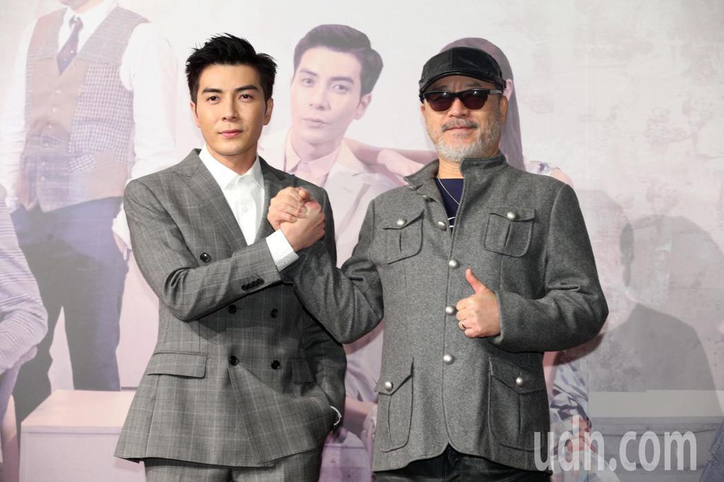 三立網劇《位!你在等我嗎?》舉行首映會,主要演員江可德(左)、班鐵翔(右)出席首...