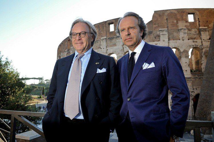 TOD'S集團總裁Diego Della Valle與副總裁Andrea Del...