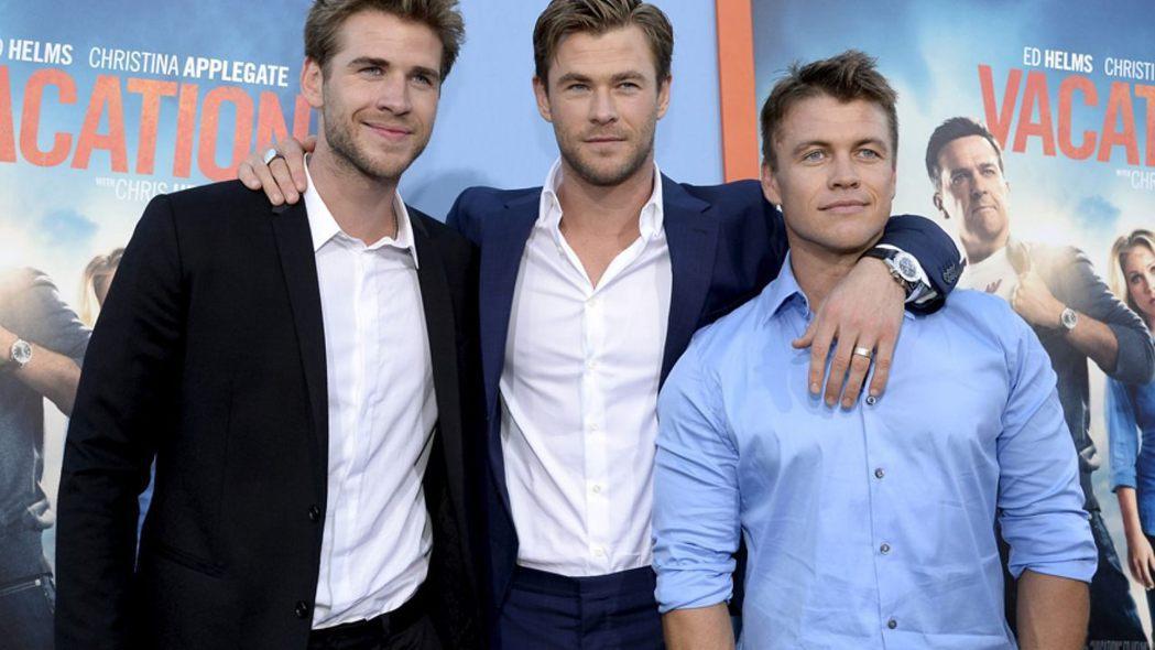 路克漢斯沃(右起)與克里斯、連恩3兄弟都是演員,彼此發展不同。圖/路透資料照片
