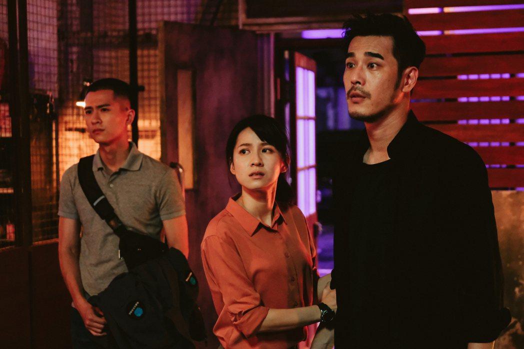 石知田(左起)、連俞涵、黃騰浩「妖怪人間」面臨被隔離。圖/公視提供