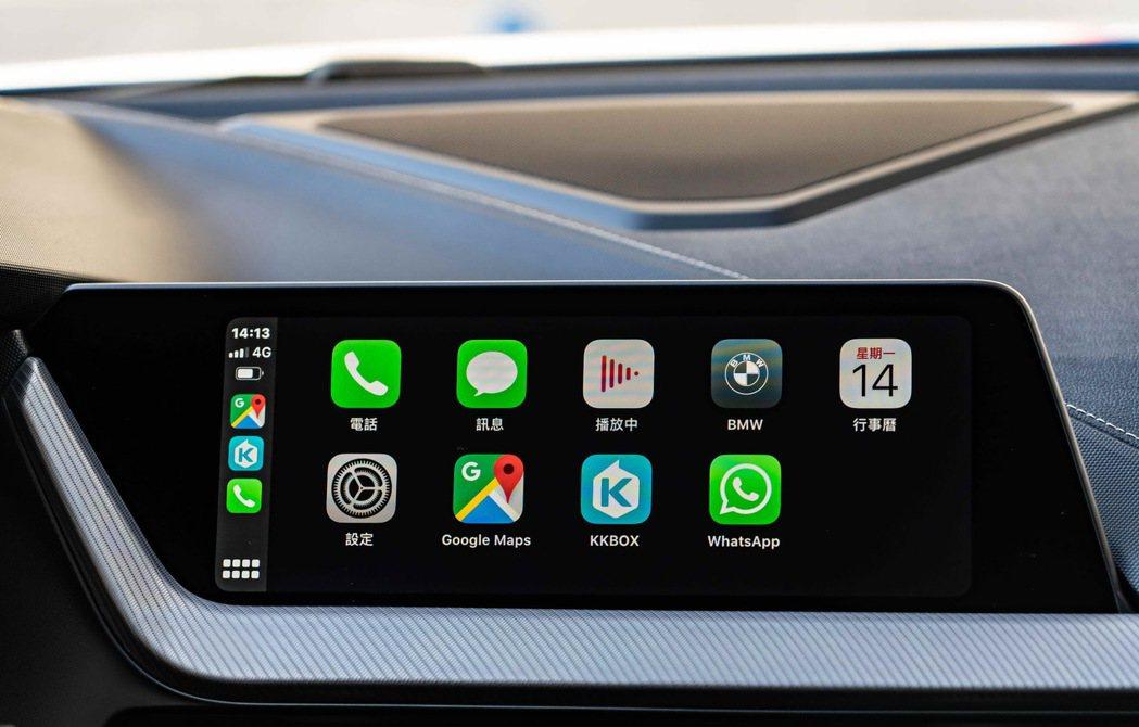 全新世代BMW 1系列標準配備無線Apple CarPlay整合系統,使行車生活...