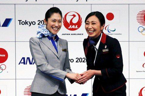 日本航空(JAL)與全日空(ANA)為東京奧運提供航運協力。 圖/路透社