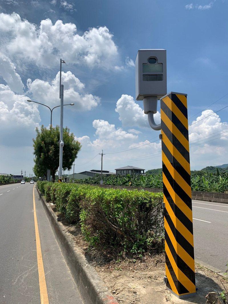 今年1至3月,台南市測速照相桿取締違規第1名,是玉井區台84線線40.38公里處,共取締5020件。圖/台南市交通大隊提供