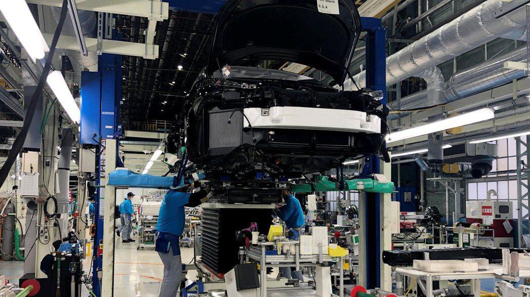 豐田位於愛知縣的汽車廠。  路透