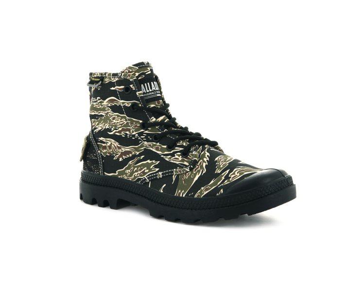 PALLADIUM美軍迷彩PAMPA HI OG CAMO鞋2,680元。圖/P...