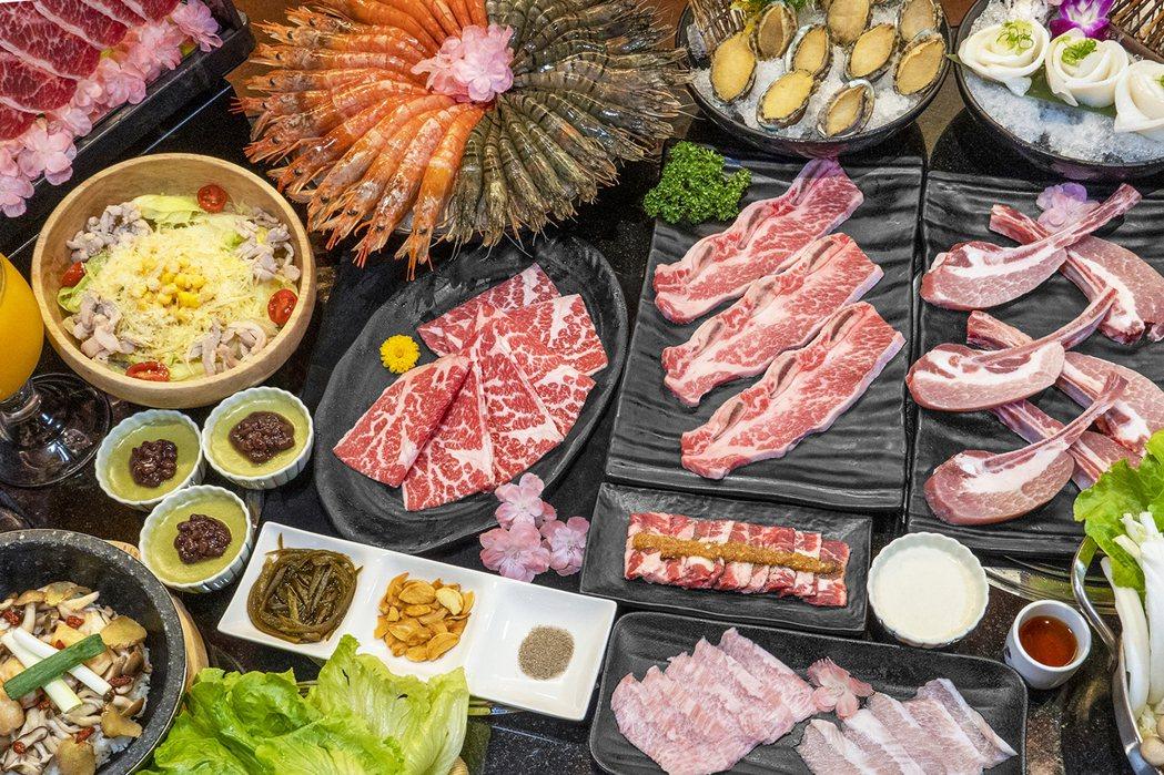 哞哞屋和牛燒肉的「888元吃到飽」自4月10日起食材全面升級。圖/馬辣集團提供