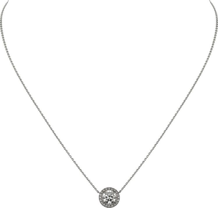 卡地亞Cartier Destinée鑽石項鍊,白K金鑲嵌圓形明亮式切割鑽石,...
