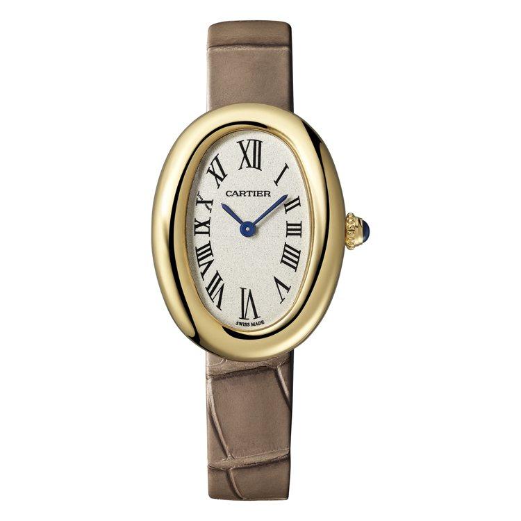 卡地亞Baignoire黃K金腕表,33萬7,000元。圖/卡地亞提供