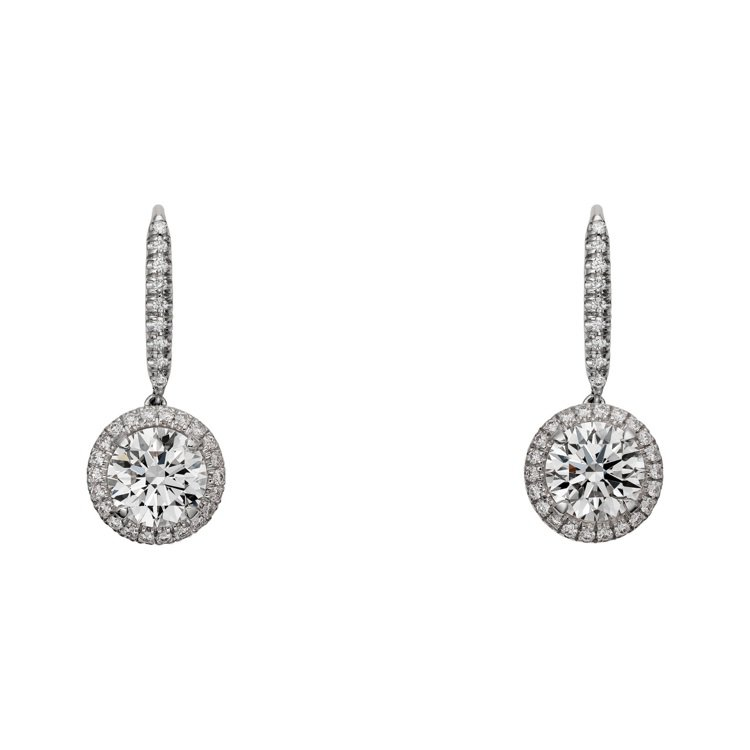 卡地亞Cartier Destinée單鑽耳環,白K金鑲嵌圓形明亮式切割鑽石,...