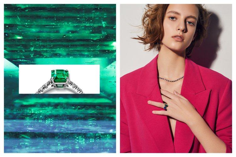 卡地亞母親節推出Cartier Destinée系列彩色寶石新品。圖/卡地亞提...