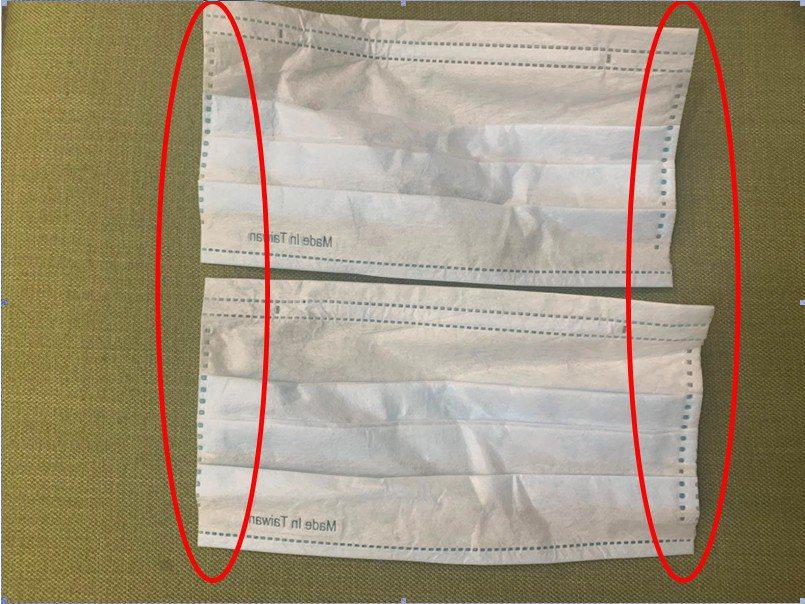 台中陳先生在臉書社團以3000元購買600個口罩,包裹內雖為「醫療級口罩」本體,...