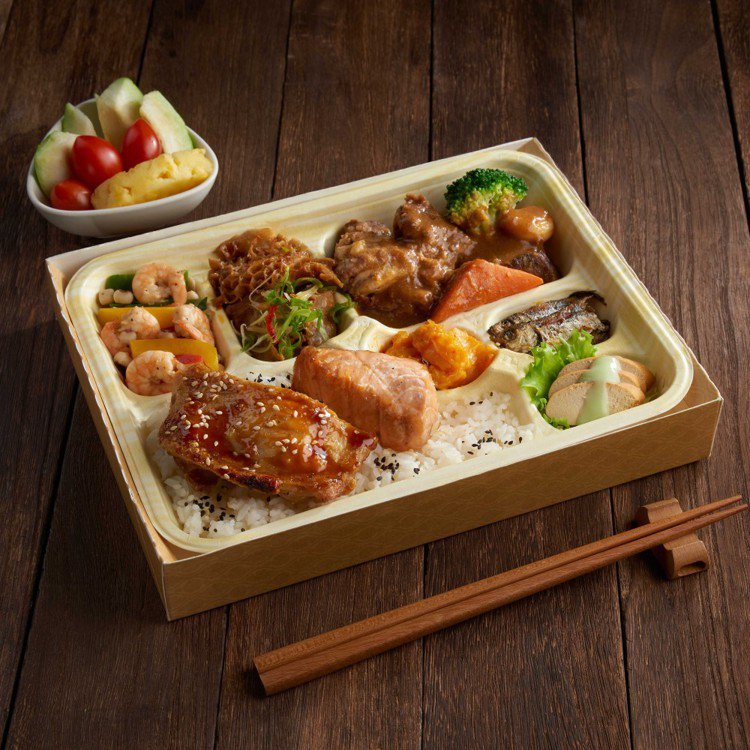 饗食天堂「澎湃獨饗餐盒」。圖/饗賓餐旅提供