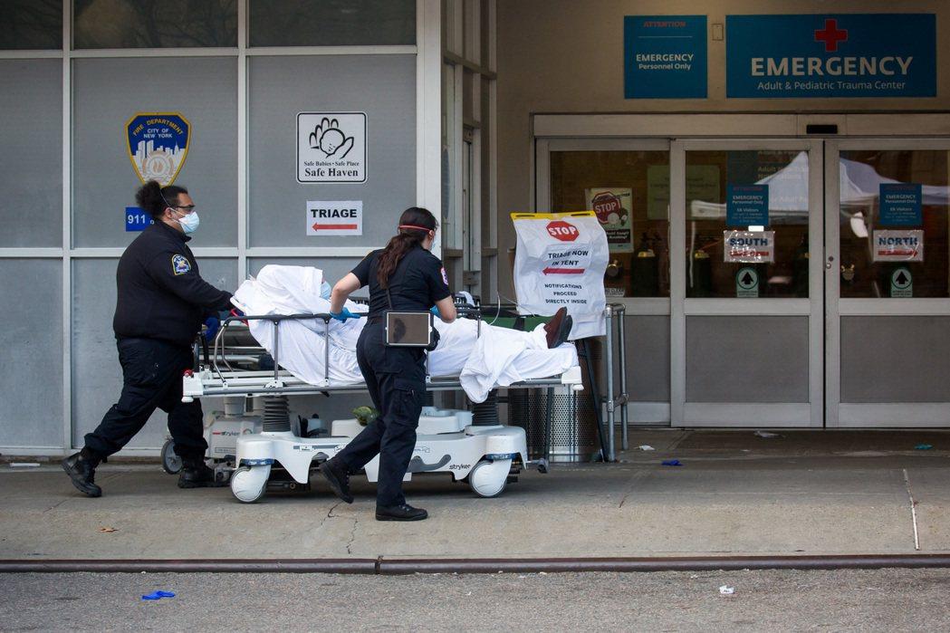 紐約是美國新冠肺炎重災區。新華社