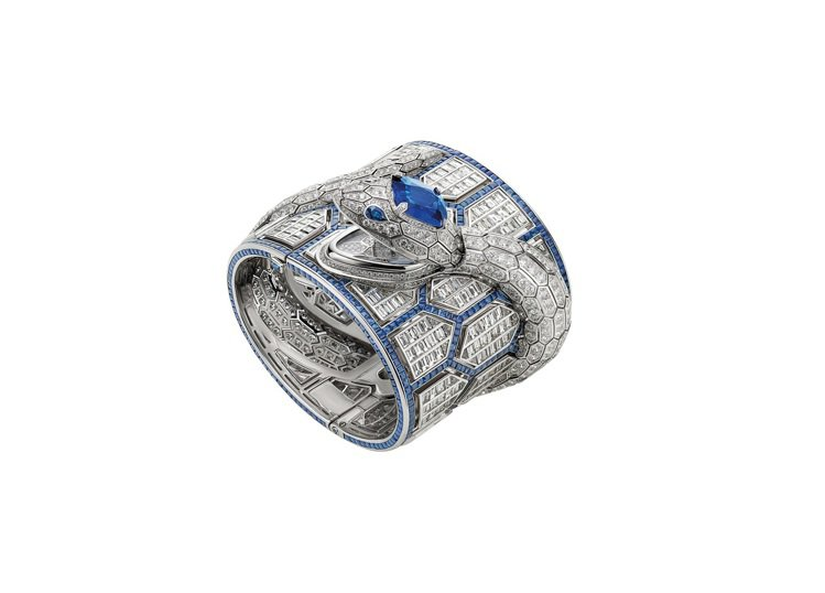 BVLGARI SERPENTI MISTERIOSI頂級藍寶石珠寶神秘鑽表,5...