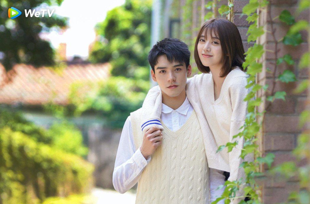 劉人語(右)、龔俊主演「致我們甜甜的小美滿」狂放閃。圖/WeTV提供