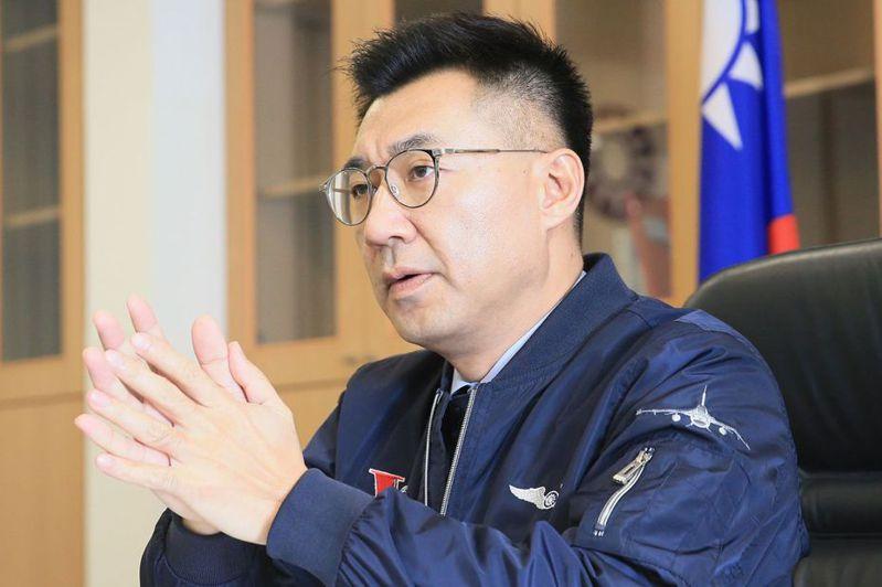 江啟臣昨天表示,要整體討論中華民國憲法體制、政體的修憲高度,最好由蔡總統出來領導。 記者潘俊宏/攝影