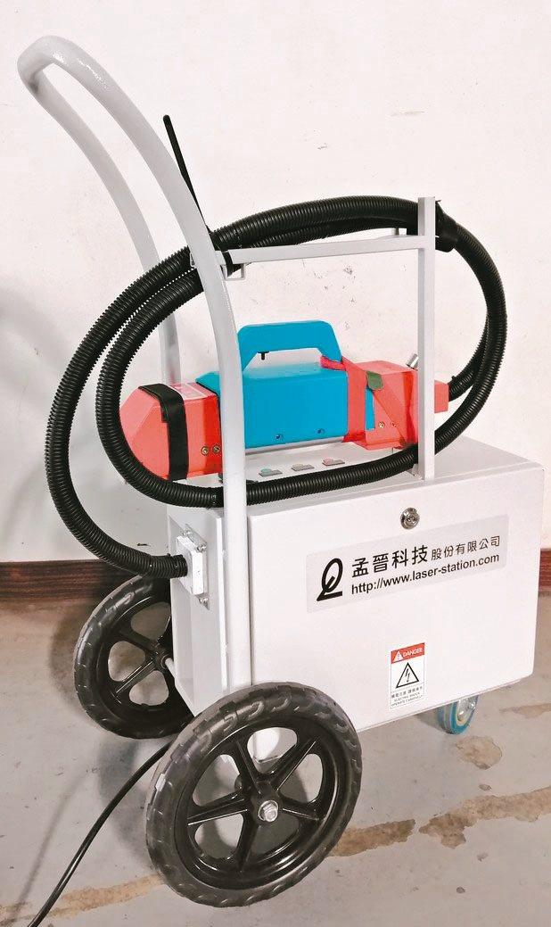 孟晉科技「氣冷式雷射清潔機」操作簡易、免保養、無耗材。 孟晉/提供