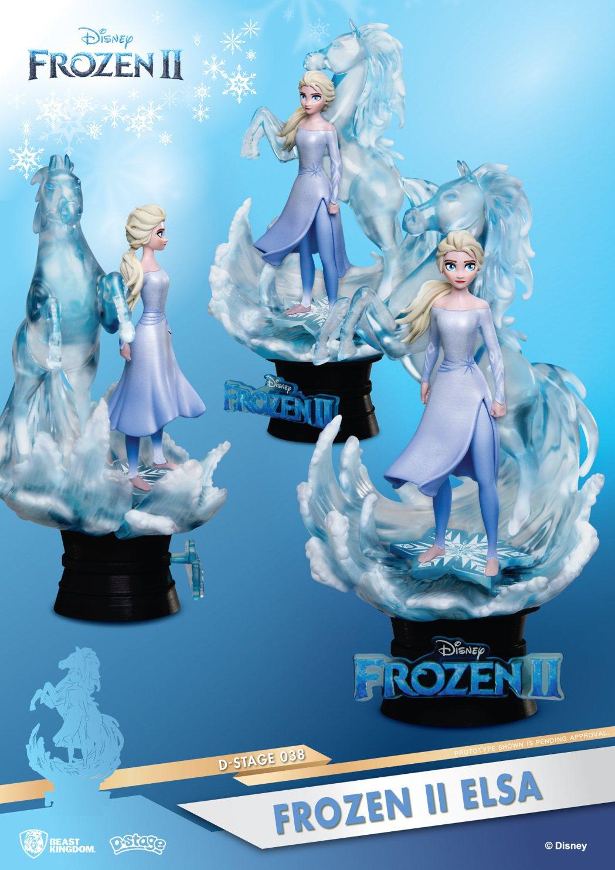冰雪奇緣艾莎16公分雕像(售價899元)。圖/迪士尼提供