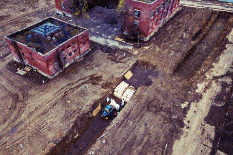紐約市在布朗區海上的無人島嶼——哈特島——臨時挖出了「千人義塚」。 圖/路透社