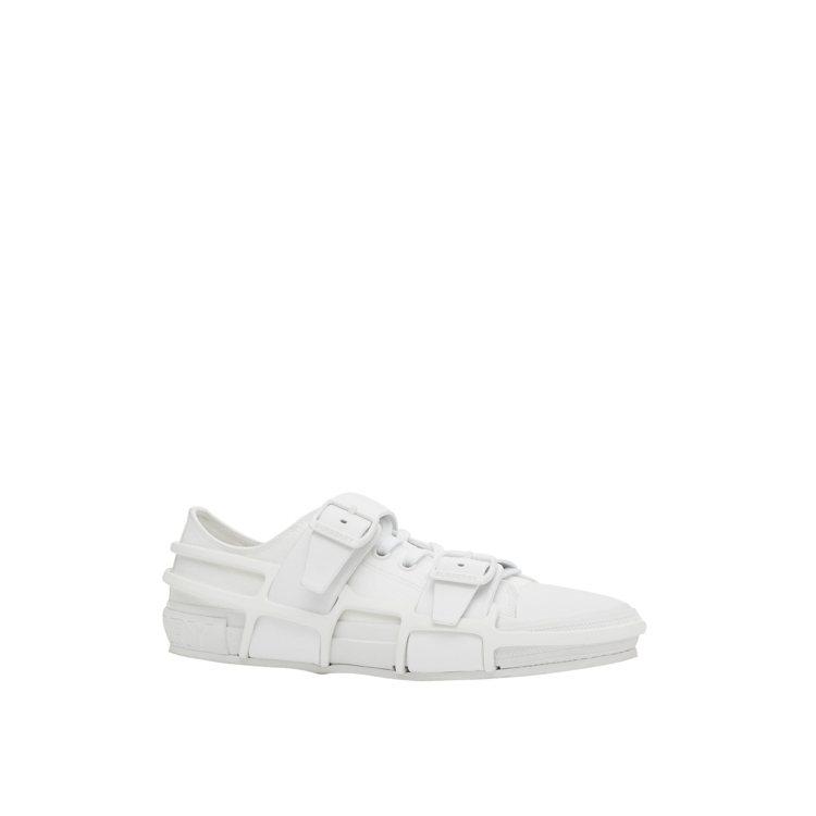 棉質及皮革Webb運動鞋白色,售價28,900元。圖/BURBERRY提供