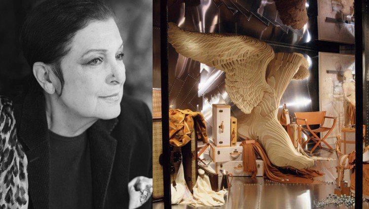 愛馬仕櫥窗藝術總監Leïla Menchari因為新冠肺炎去世,享耆壽92歲。圖...