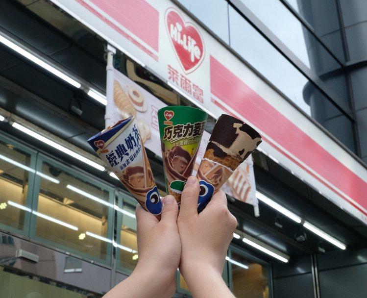 萊爾富與杜老爺跨界合作,限量推出超商獨家「經典奶茶風味甜筒」、「巧克力麥芽風味甜...