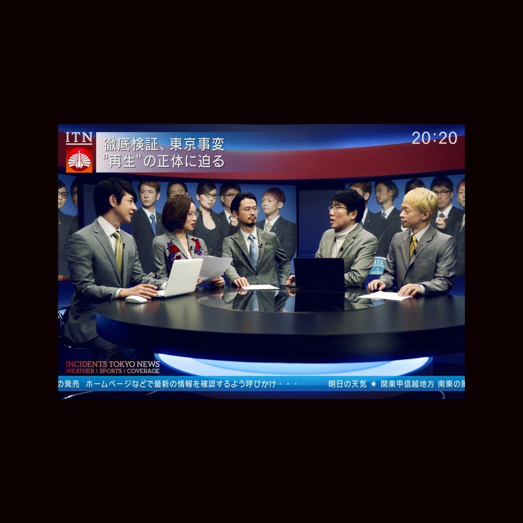 東京事變登上主播台。圖/環球提供