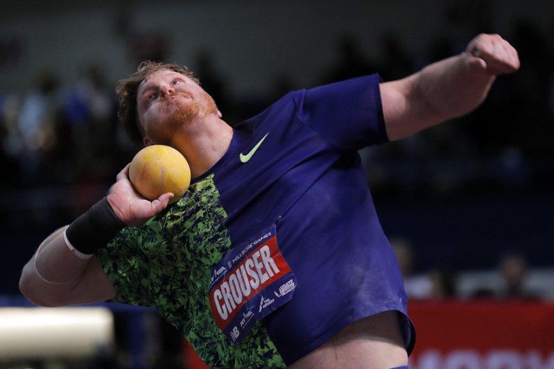 奧運延期,上屆里約奧運鉛球金牌、美國田徑明星克勞瑟憂心收入。 美聯社