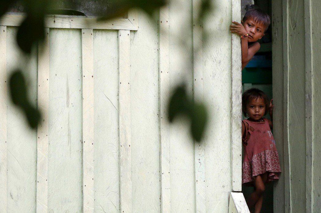 巴西當局今天表示,一名亞諾馬米族原住民男孩在感染2019冠狀病毒疾病後逝世。圖為...