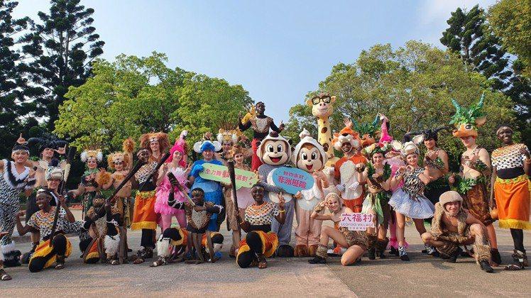 動物派對重頭戲之動物大遊行,由哈比哈妮與動物好朋友們準備歡樂逗趣的派對歡迎所有遊...