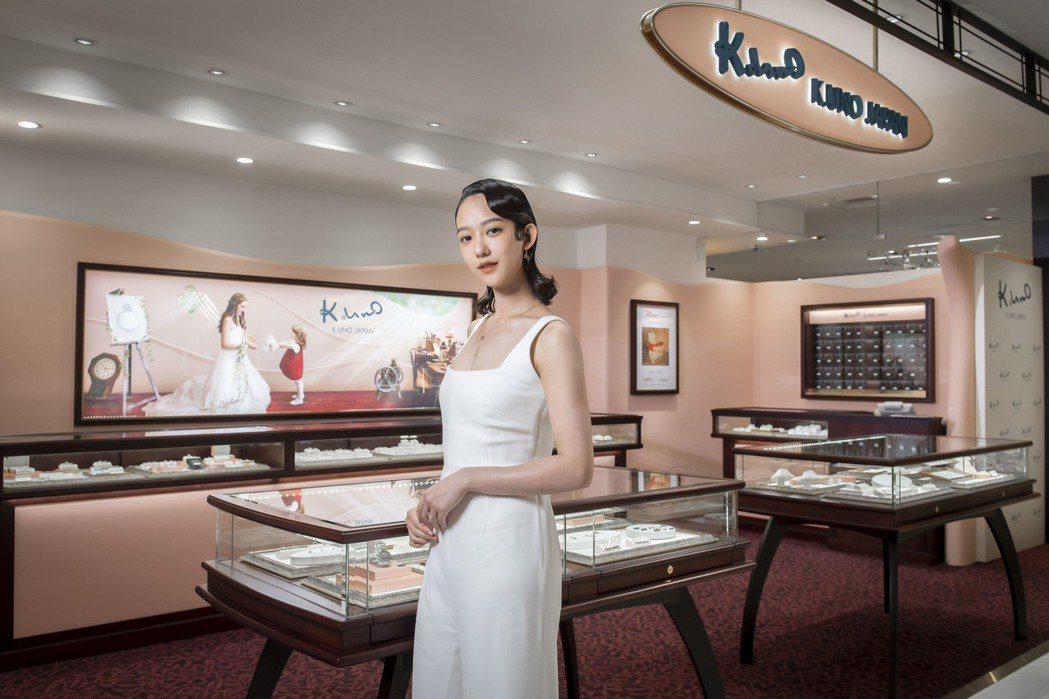 孟耿如出席日系珠寶品牌一日店長活動。圖/K.UNO提供