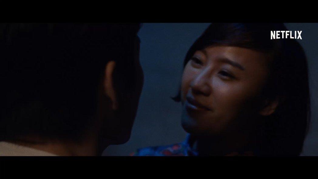 方宥心在「虎尾」中扮演一名為愛勇往直前的年輕女孩。圖/Netflix提供