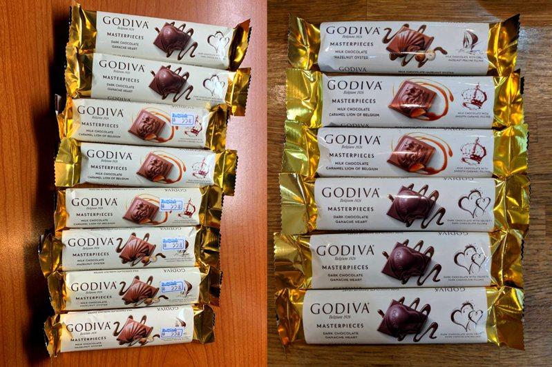 GODIVA巧克力每條原價55元,如今可現省40元。圖/擷取自 PTT  Lifeismoney