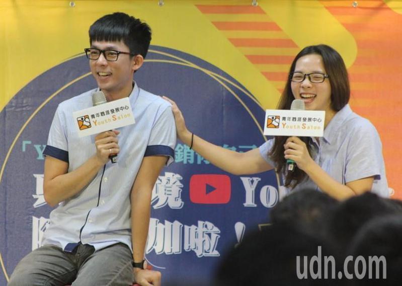 圖為知名YouTuber阿滴(左)和滴妹(右)。本報資料照片