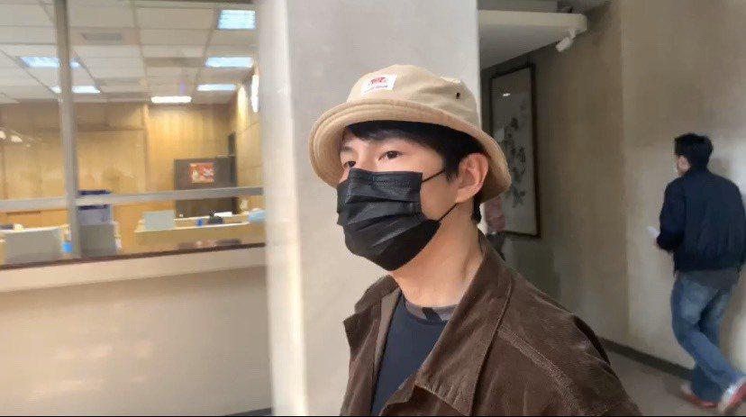 孫協志現身台北地檢署出庭。記者賴佩璇/攝影