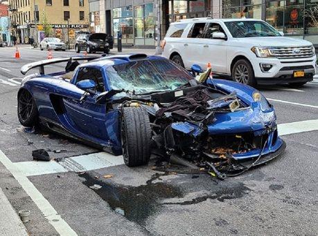 闊氣富少一出腳不得了 撞掉一輛Gemballa Mirage GT!