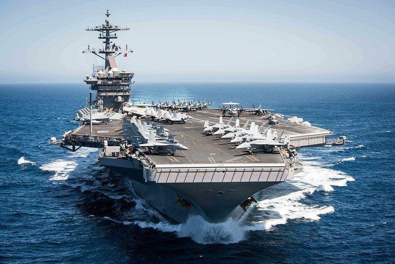 圖為美軍航空母艦羅斯福號。 圖/美國海軍