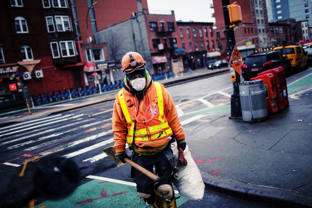 圖為疫情下的紐約街頭。 圖/美聯社