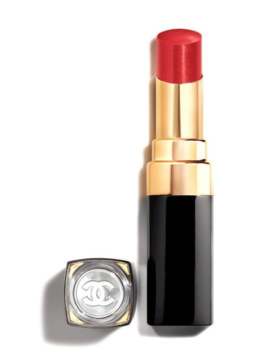 COCO晶亮水唇膏#148活潑:亮紅色 3g,1,280元。圖/香奈兒提供