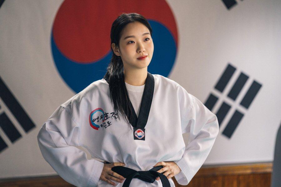 金高銀在劇中展現跆拳道身手。圖/Netflix提供