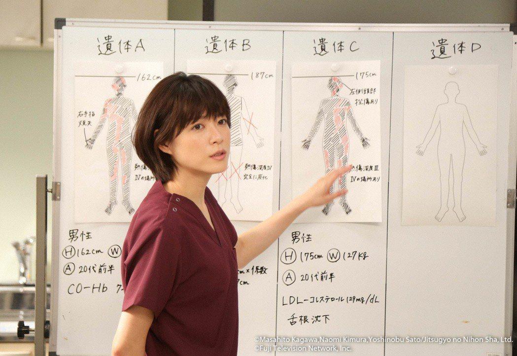 上野樹里挑戰法醫角色。圖/緯來日本台提供