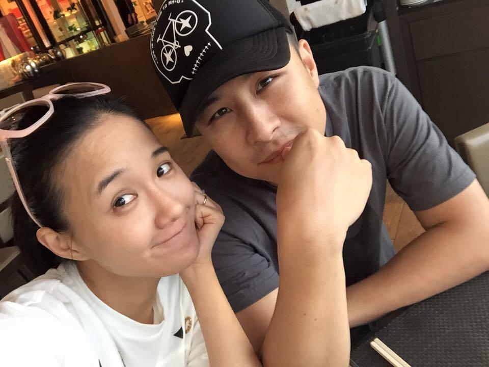 何妤玟說和老公邵天成(右)離婚後還是好朋友。圖/摘自臉書