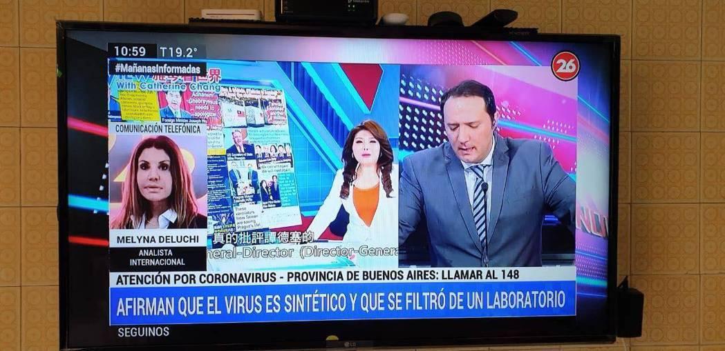 張雅琴的「雅琴看世界」登上阿根廷電視台。圖/張雅琴提供