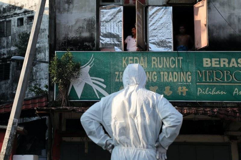 馬來西亞迎來第四個月的新冠肺炎抗疫,攝於4月1日,馬來西亞。 圖/路透社