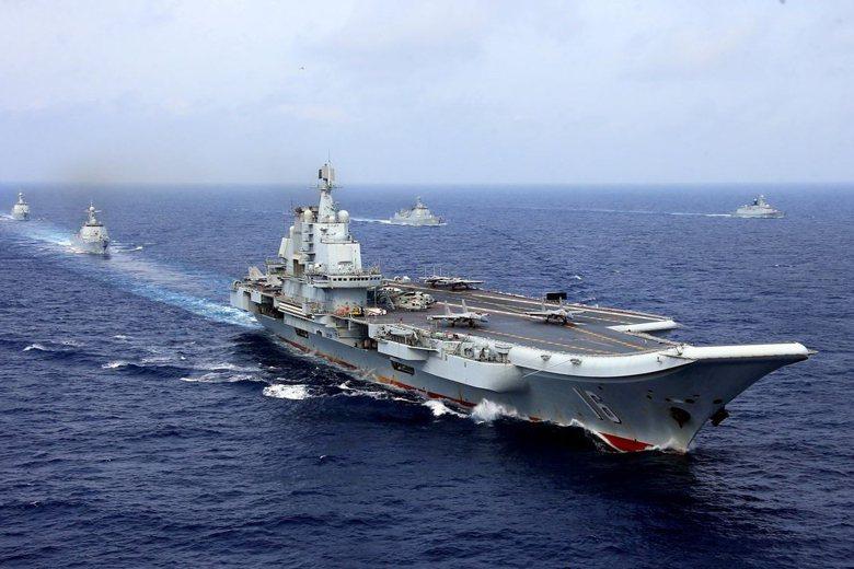 解放軍航空母艦遼寧號。 圖/路透社