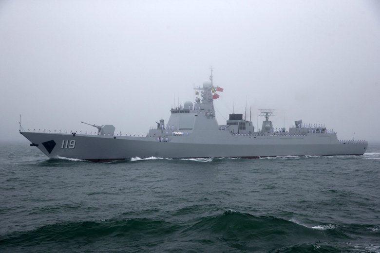 解放軍052D驅逐艦貴陽號。 圖/美聯社