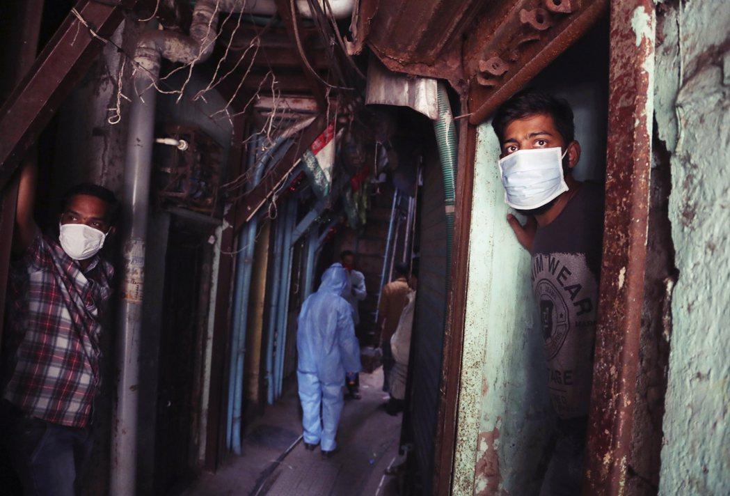 圖為孟買一處「貧民窟」。 圖/美聯社