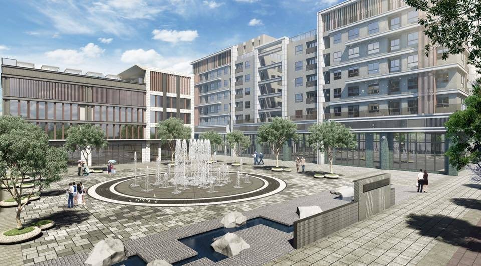 全台住宅案最大、超廣角12星座音樂水舞廣場。