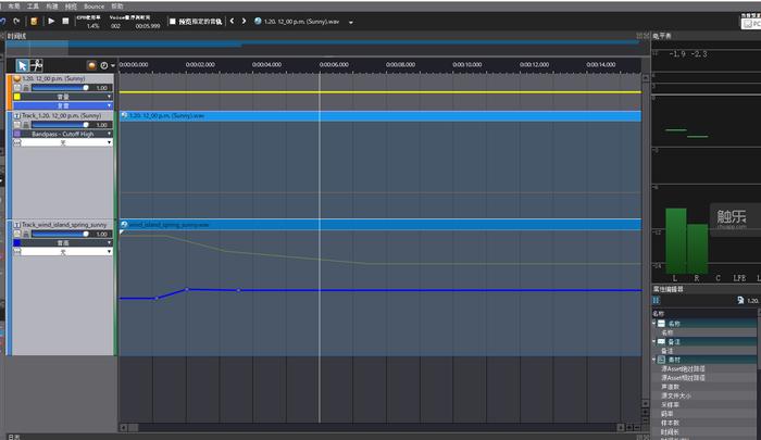 例如,我們可以在ADX2中輕鬆地實現這種聲音與環境的交互循環