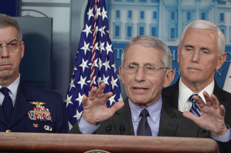 美國總統川普13日在白宮記者會上表示,沒要開除防疫主管佛奇(Anthony Fauci)。圖為佛奇,本報資料照片,華盛頓記者張文馨/攝影
